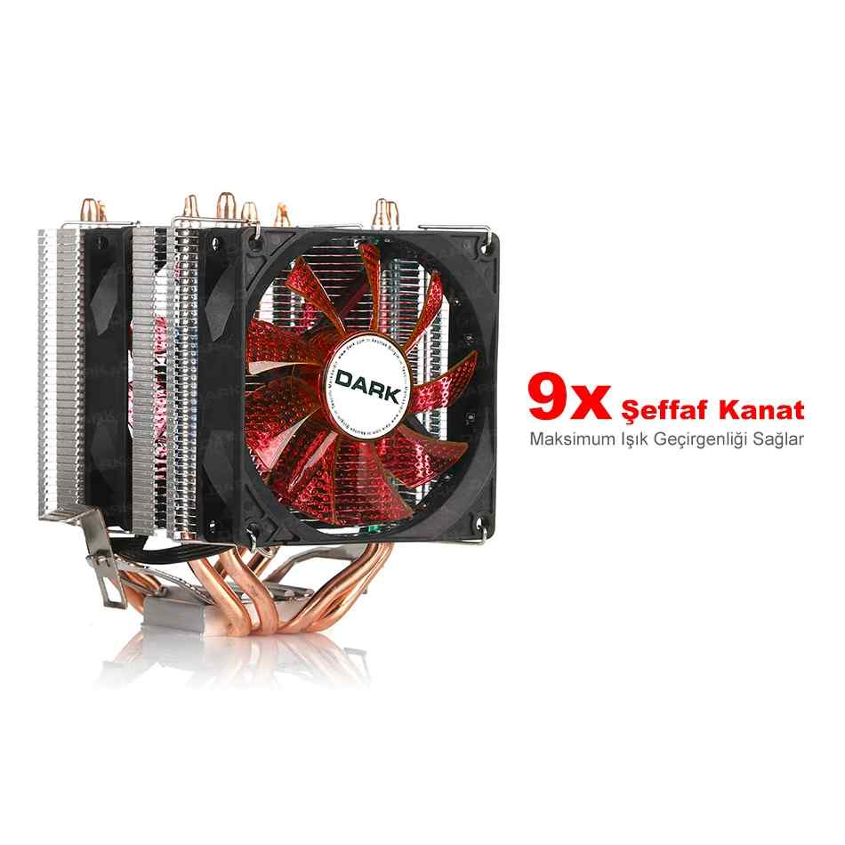 DARK FREEZER X94 DKCCX94RD AMD/INTEL AM2/SOKET 1156 İŞLEMCİ FANI